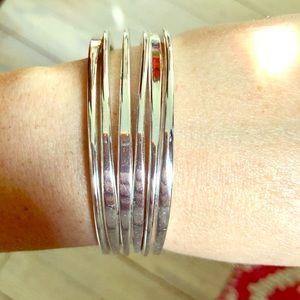 La lune Silver Bangle Bracelets